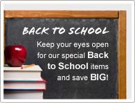 Hold øje med vores skolestartstilbud og spar penge!